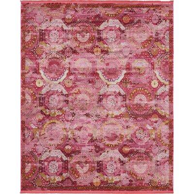 Lonerock Pink Area Rug Rug Size: Rectangle 84 x 10