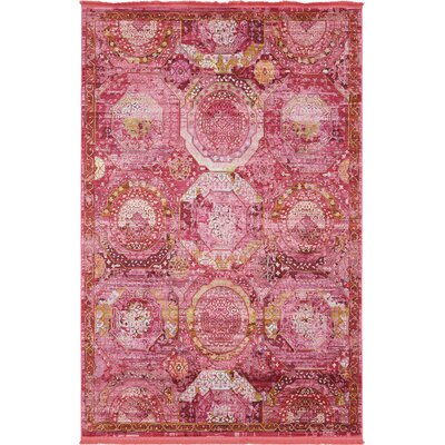 Lonerock Pink Area Rug Rug Size: Rectangle 55 x 8