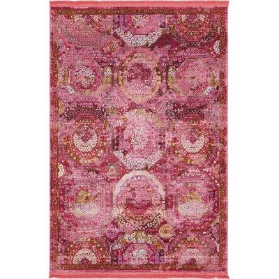 Lonerock Pink Area Rug Rug Size: Rectangle 43 x 6