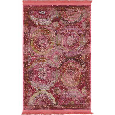 Lonerock Pink Area Rug Rug Size: Rectangle 22 x 3