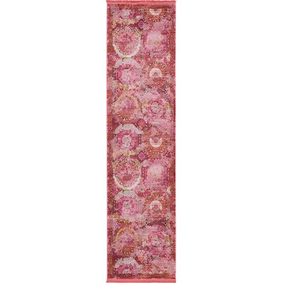 Lonerock Pink Area Rug Rug Size: Runner 2'7