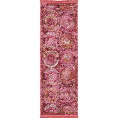Lonerock Pink Area Rug Rug Size: Runner 22 x 6