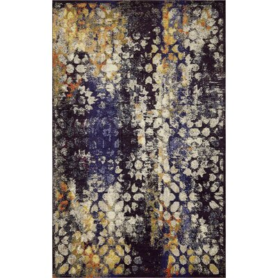 Alkire Navy Blue Area Rug Rug Size: Rectangle 106 x 165