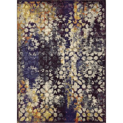 Alkire Navy Blue Area Rug Rug Size: Rectangle 9 x 12