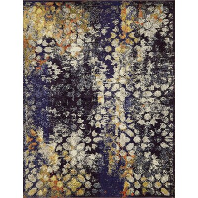 Alkire Navy Blue Area Rug Rug Size: Rectangle 8 x 10