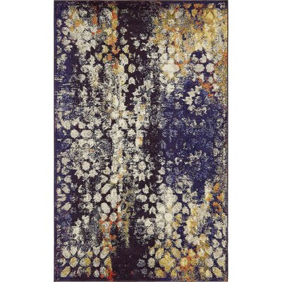 Alkire Navy Blue Area Rug Rug Size: Rectangle 5 x 8