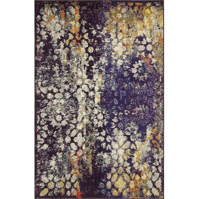 Alkire Navy Blue Area Rug Rug Size: Rectangle 4 x 6
