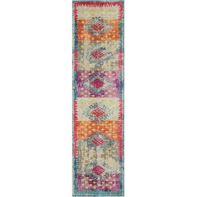 Cassava Purple/Orange/Blue Area Rug Rug Size: Runner 27 x 10