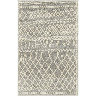 Foxhill Gray Area Rug Rug Size: Rectangle 2 x 3