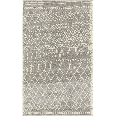 Foxhill Gray Area Rug Rug Size: Rectangle 3 x 5