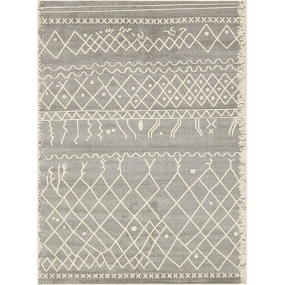 Foxhill Gray Area Rug Rug Size: Rectangle 9 x 12