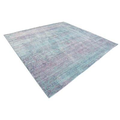 Brixton Green/Purple Area Rug Rug Size: Square 8