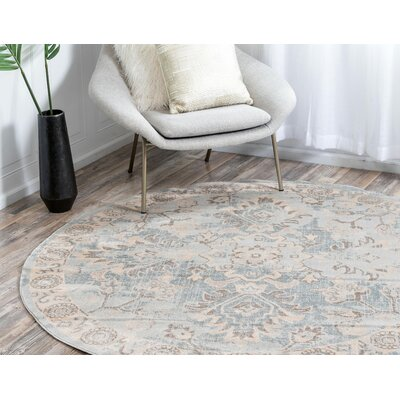 Luke Blue Area Rug Rug Size: Rectangle 8 x 8