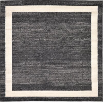 Carson Black/Cream Area Rug Rug Size: Rectangle 8 x 8