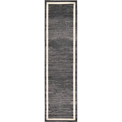Carson Black/Cream Area Rug Rug Size: Runner 27 x 10