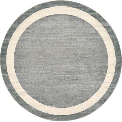 Mischa Gray Area Rug Rug Size: Round 8