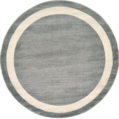 Mischa Gray Area Rug Rug Size: Round 6