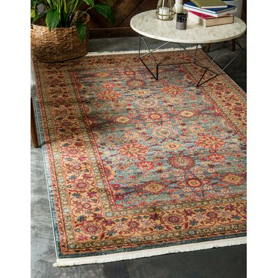 Sebou Blue Area Rug Rug Size: Rectangle 32 x 52