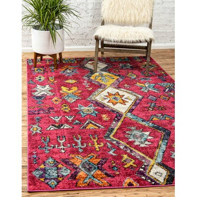 Ariyah Pink Area Rug Rug Size: Rectangle 9 x 12