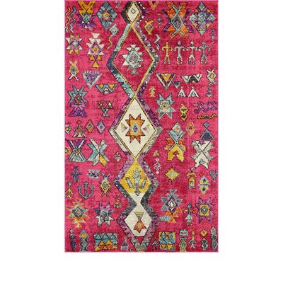 Ariyah Pink Area Rug Rug Size: Rectangle 5 x 8