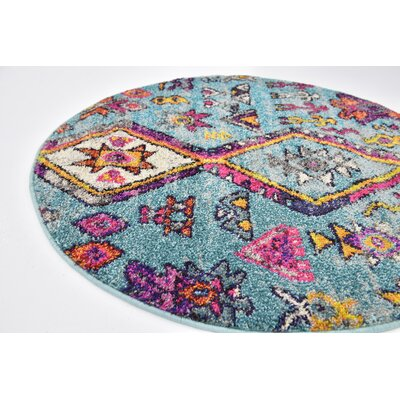 Ariyah Turquoise Area Rug Rug Size: 8 x 10