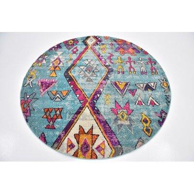Ariyah Turquoise Area Rug Rug Size: 8 x 8