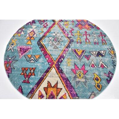 Ariyah Turquoise Area Rug Rug Size: 6 x 6