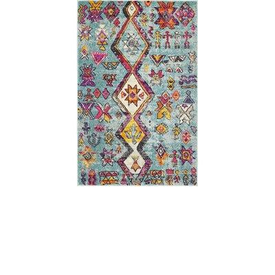 Ariyah Turquoise Area Rug Rug Size: 33 x 33