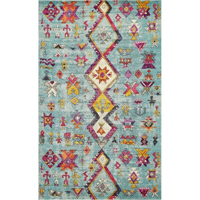 Ariyah Turquoise Area Rug Rug Size: Rectangle 4 x 6