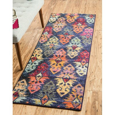 Ariyah Navy/Red Area Rug Rug Size: Rectangle 106 x 165
