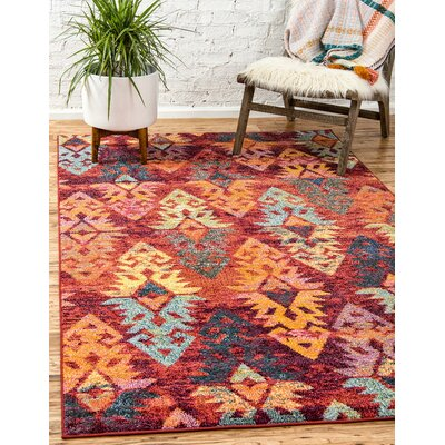 Ariyah Rust Red Area Rug Rug Size: Rectangle 4 x 6