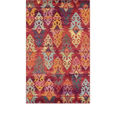Ariyah Rust Red Area Rug Rug Size: Rectangle 3 3 x 3 3