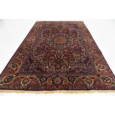 One-of-a-Kind Winterstown Persian Hand Woven Wool Rectangle Red Oriental Area Rug