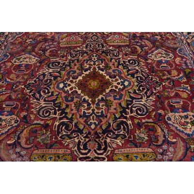 One-of-a-Kind Winterstown Persian Hand Woven 100% Wool Navy Blue Area Rug