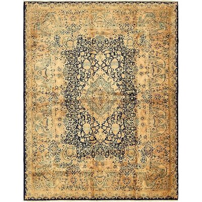 One-of-a-Kind Winterstown Persian Hand Woven 100% Wool Rectangle Navy Blue Oriental Area Rug