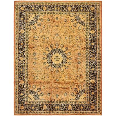 One-of-a-Kind Winterstown Persian Hand Woven Wool Peach Area Rug