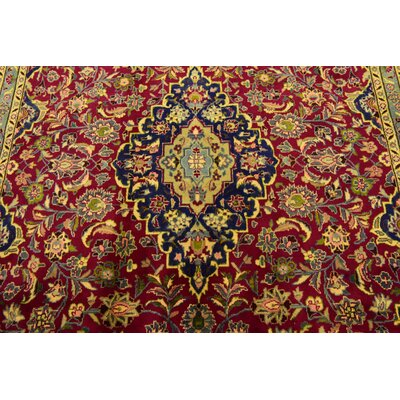One-of-a-Kind Winterstown Traditional Persian Hand Woven Wool Red Oriental Area Rug