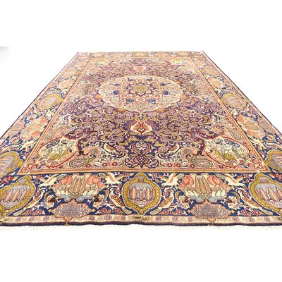 One-of-a-Kind Winterstown Persian Hand Woven Wool Plum Red Area Rug