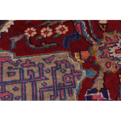 One-of-a-Kind Winterstown Persian Hand Woven 100% Wool Rectangle Red Oriental Area Rug