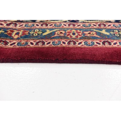 One-of-a-Kind Winterstown Persian Hand Woven 100% Wool Rectangle Red Oriental Area Rug with Fringe
