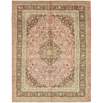 One-of-a-Kind Winterstown Persian Hand Woven Wool Pink Area Rug
