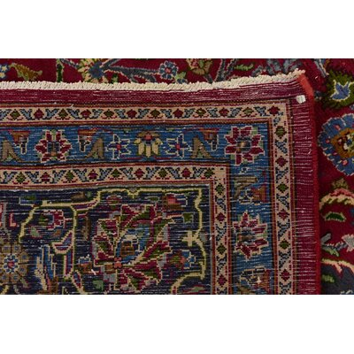 One-of-a-Kind Winterstown Traditional Persian Hand Woven Wool Red Oriental Area Rug with Fringe