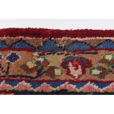 One-of-a-Kind Winterstown Persian Hand Woven Wool Rectangle Red Oriental Area Rug with Fringe