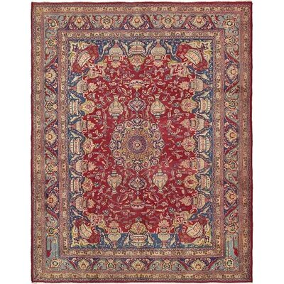 One-of-a-Kind Winterstown Stain-Resistant Persian Hand Woven Wool Red Oriental Area Rug with Fringe