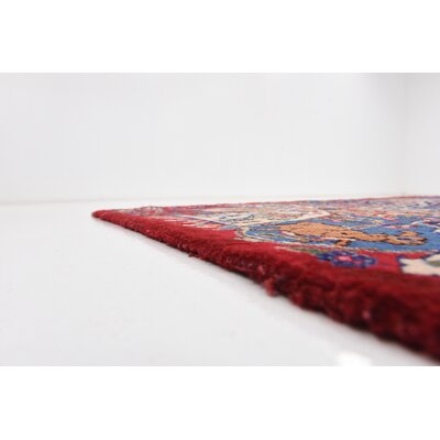 One-of-a-Kind Winterstown Traditional Persian Hand Woven 100% Wool Red Oriental Area Rug with Fringe