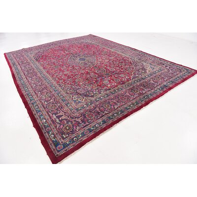 One-of-a-Kind Winterstown Persian Hand Woven Wool Rectangle Red Area Rug