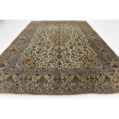 One-of-a-Kind Winterstown Persian Hand Woven 100% Wool Ivory Area Rug