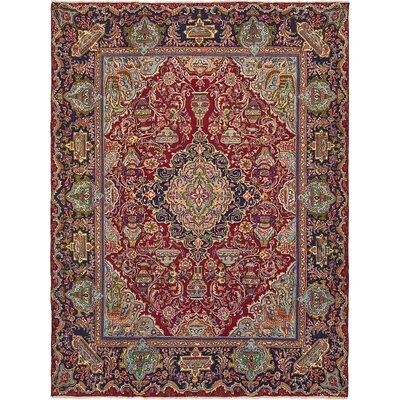 One-of-a-Kind Winterstown Stain-Resistant Persian Hand Woven Wool Red Area Rug