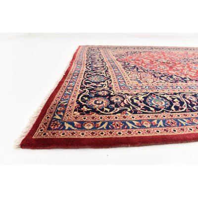 One-of-a-Kind Winterstown Persian Hand Woven 100% Wool Rectangle Red Area Rug