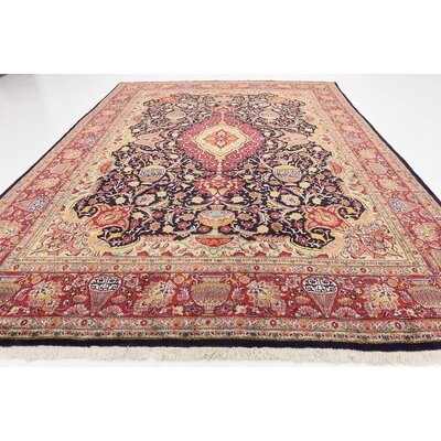 One-of-a-Kind Winterstown Traditional Persian Hand Woven Wool Rectangle Red Oriental Area Rug with Fringe